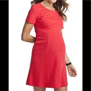 Isabella Oliver Rawlinson Boat Neck Red Dress 10